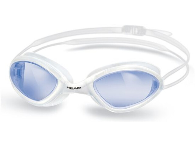 Head Tiger Race LS Clear - White - Blue (CLWHBL)